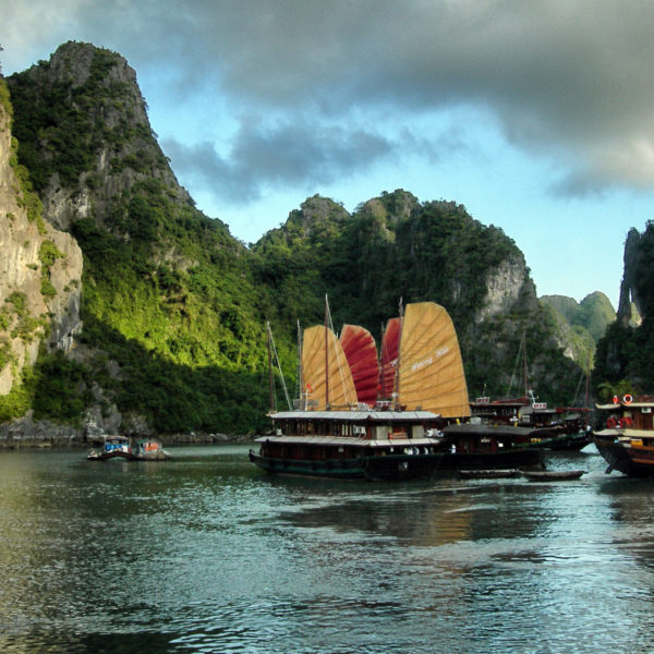 Ha Long Your Emerald Waters And Thousands Of Towering Limestone Are Breathtaking