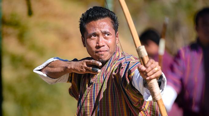 Bhutan celebrating lunar new year