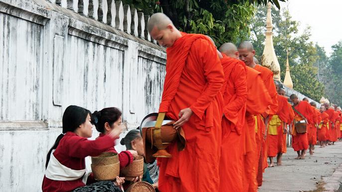 Laos celebrating lunar new year