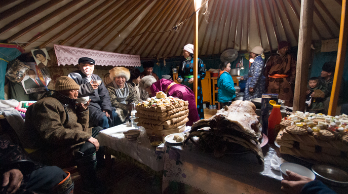 Mongolia celebrating lunar new year