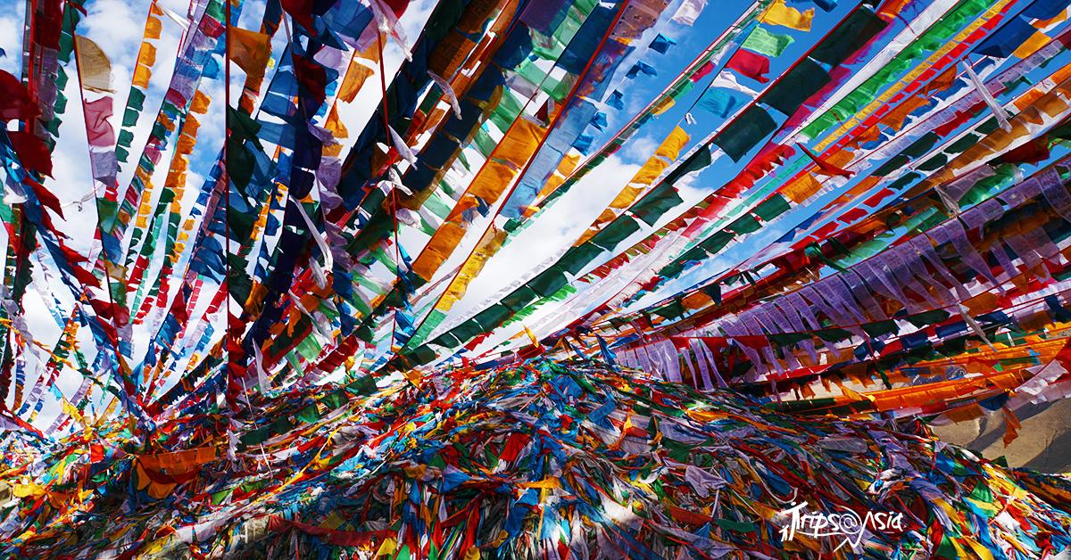 The prayer flags/silk scarves