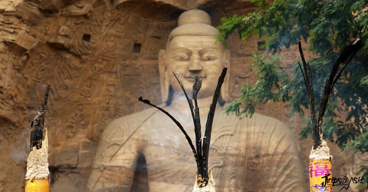 A cave art of Buddha
