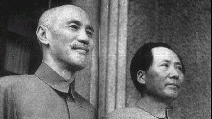Chiang Kai-shek and Mao Zedong in 1945