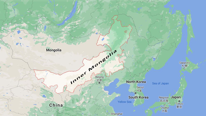 Current Inner Mongolia Map