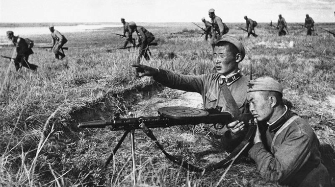 Mongolian Army soldiers in WWII
