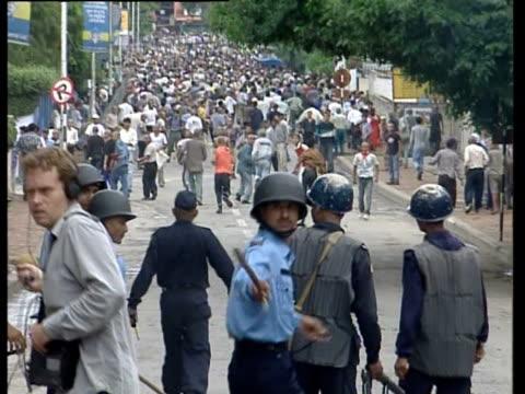 Riot following Nepalese royal family massacre