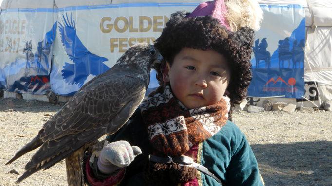 Kazakh Boy With A Falcon