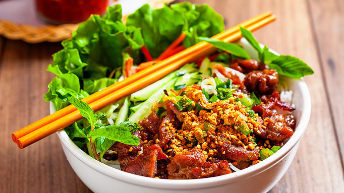 Rice Vermicelli Noodle Salad With Grilled Pork